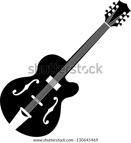 guitar silhouette stock vector royalty free 130645469 shutterstock