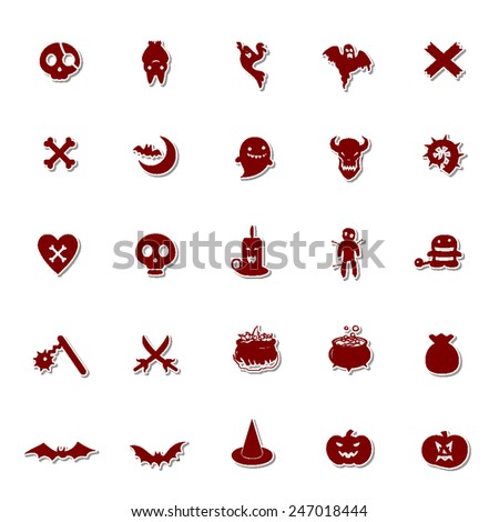 Halloween icon set 4 - stock vector
