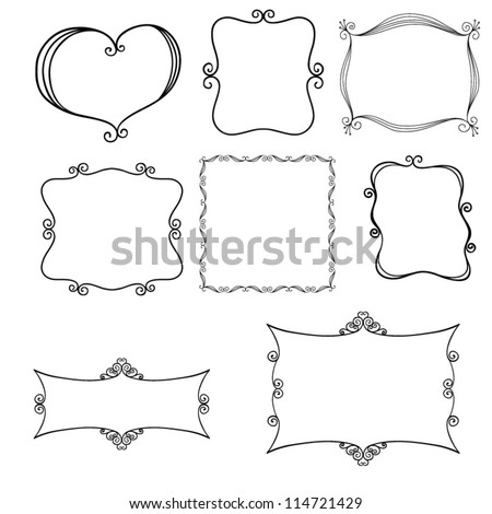 Hand drawn decorative frames vector stock vector 114721429 hand drawn decorative frames vector junglespirit Gallery