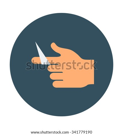 Hand Wound Colored Vector Icon
