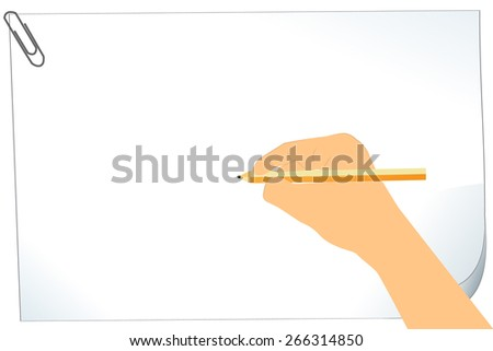 hand  writing on clipboard - stock vector