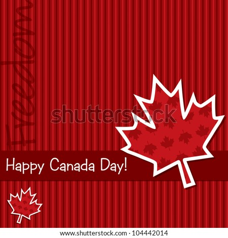 'Happy Canada Day' sticker card in vector format. - stock vector