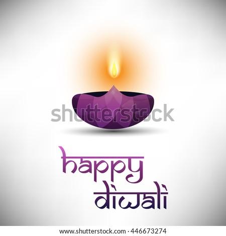 Happy Diwali Card  - stock vector