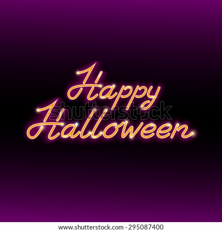Happy Halloween Greeting Card in Retro Style - stock vector
