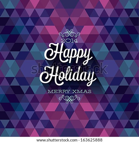 """Happy Holiday"" Poster. Vector illustration. - stock vector"