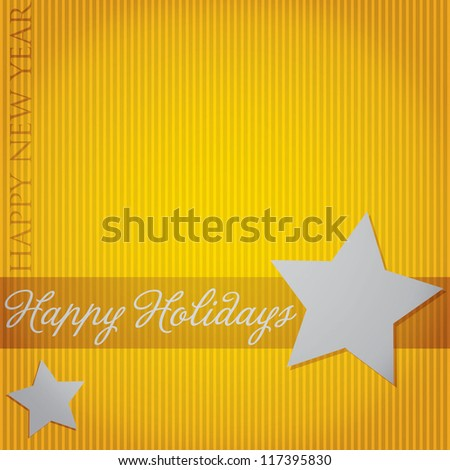 """Happy Holidays"" Star card in vector format. - stock vector"