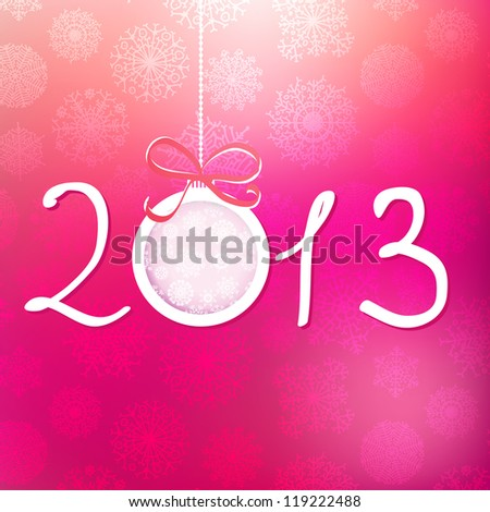 2013 Happy New Year background. + EPS8 vector file