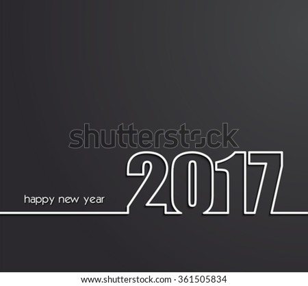 2017 Happy New Year background for your card
