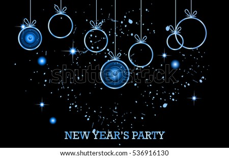2017 Happy New Year Background for your Christmas Club , festival, event , posters.