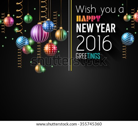 2017 Happy New Year Background for your Flyers and Greetings Card. Ideal to use for parties invitation, Dinner invitation, Christmas Meeting events and so on.