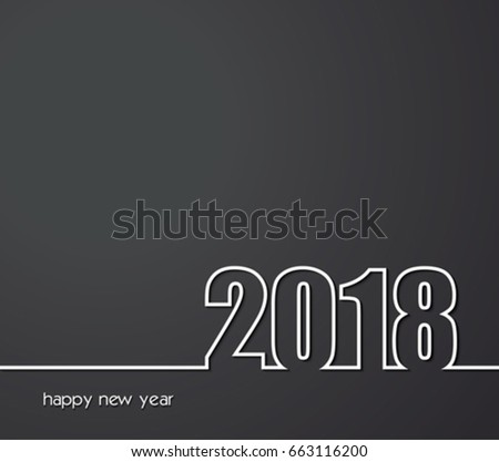 2018 Happy New Year background for your greeting card