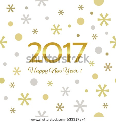2017 Happy New Year background. Seamless pattern element for cover, print, web, wrapping. Vector illustration