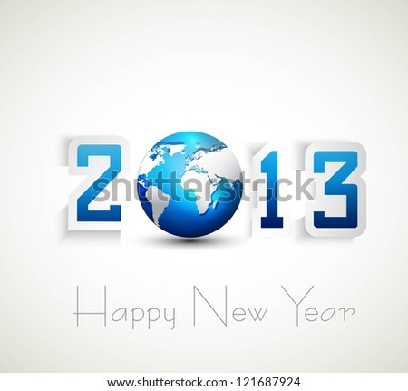 2013 happy new year celebration and business presentations vector design - stock vector