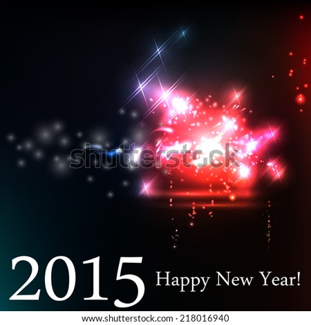 2015 happy new year celebration background for your posters. Brightly Colorful Vector Fireworks and Salute