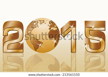 2015 Happy new year celebration , vector illustration