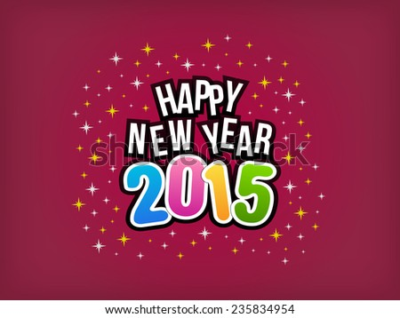 2015 Happy New Year colorful background. Vector illustration