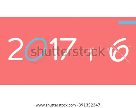 2017 Happy New Year creative design for your banners, greetings card, website