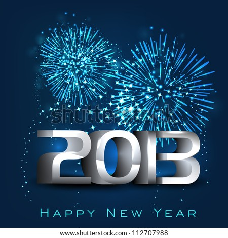 2013 Happy New Year greeting card. EPS 10. - stock vector