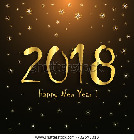 Happy New Year Greeting Card Stock Photo Photo Vector