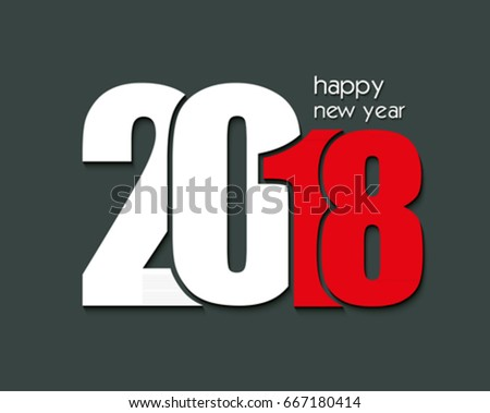 2018 Happy New Year or Christmas Background creative greeting card design, can be used for flyers, invitation, posters, brochure, calendar.