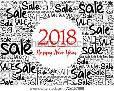 2018 Happy New Year Sale Word Stock Vector 726157888 - Shutterstock