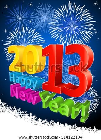 2013 Happy New Year! - vector illustration - stock vector