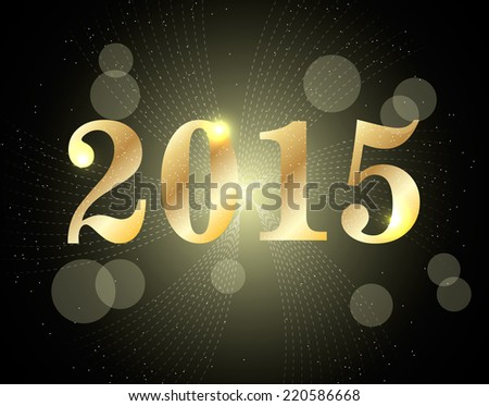 2015 Happy New Year, vector illustration - stock vector