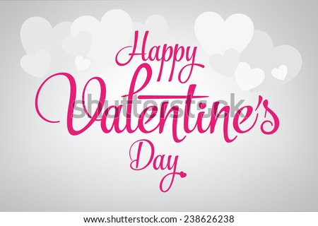 2015 Happy Valentine's day lettering card. Vector illustration. - stock vector
