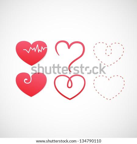 heart icon vector - stock vector
