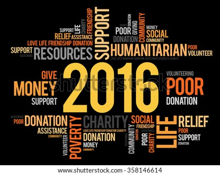 2016 help word cloud concept background