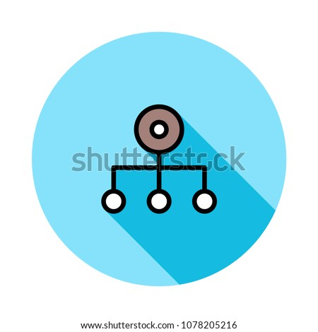 Hierarchy network diagram stock vector 1078205216 shutterstock hierarchy network diagram ccuart Images
