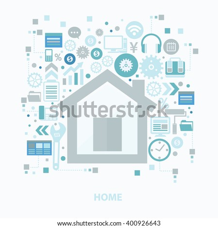 Home concept design on clean background,vector