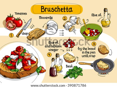 Home Cooking Recipe Bruschetta Step By Instructions Ingredients