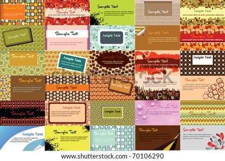 30 horizontal business card - stock vector