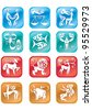 12 horoscope many colored zodiac sign - stock photo