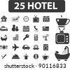 25 hotel icons set, vector illustrations - stock vector