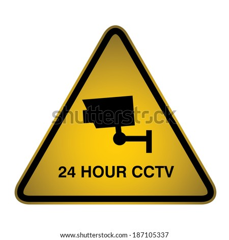 24-hour CCTV Sign- Vector