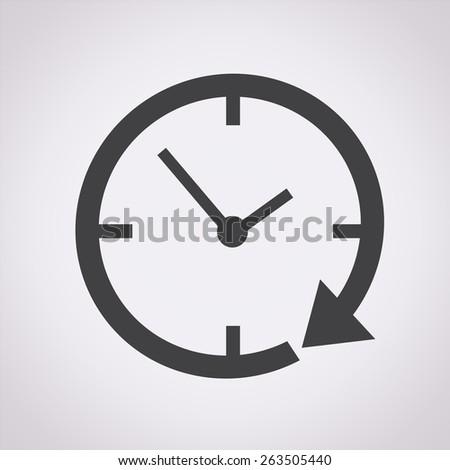 24 hour clock Icon - stock vector