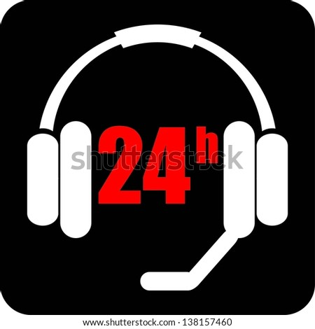 24 hours a day - stock vector