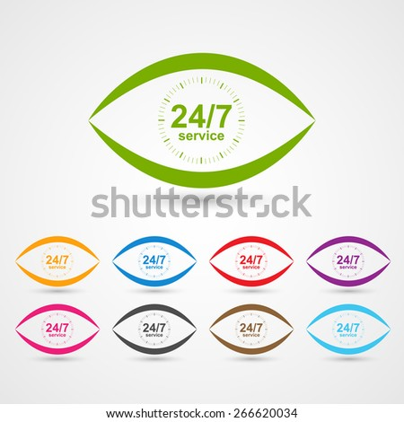 24 Hours 7 Days Customer Service Stock Vector 266620034 - Shutterstock