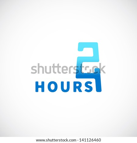 24 hours symbol, icon, signboard or Logo Template - stock vector