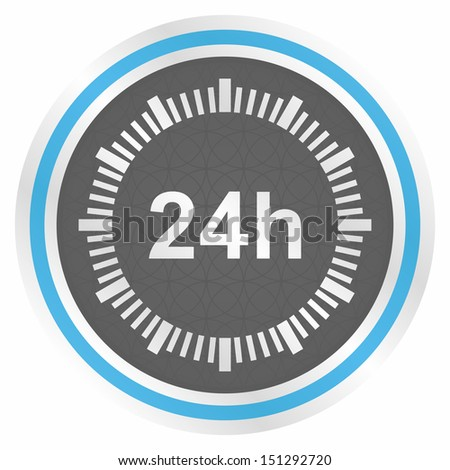 24 hours - vector illustration (elegance blue version) - stock vector