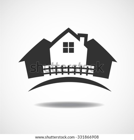 House Real Estate country logo design Vector illustration EPS10 - stock vector