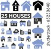 25 houses. vector - stock vector