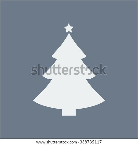 �¡hristmas tree flat icon