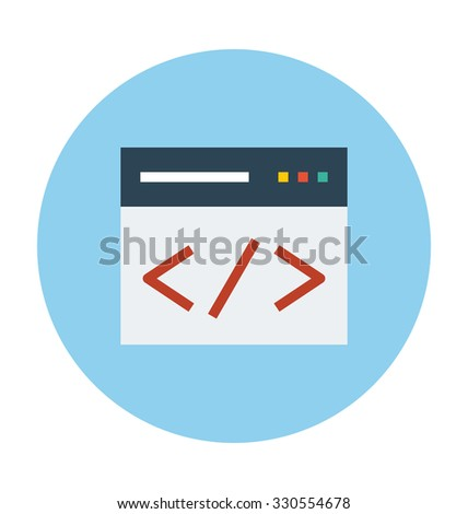 HTML Coding Colored Vector Illustration  - stock vector