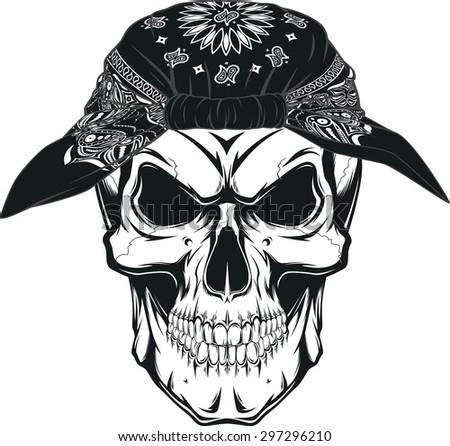 Human skull - stock vector
