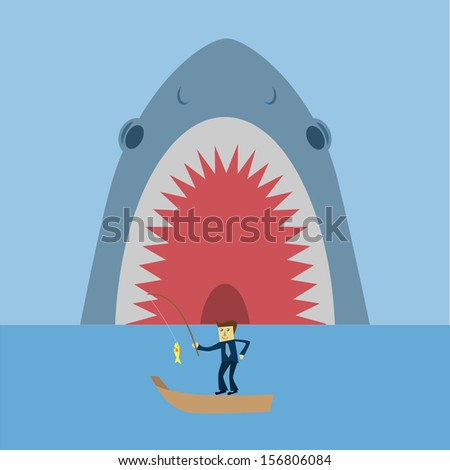 hunter shark - stock vector