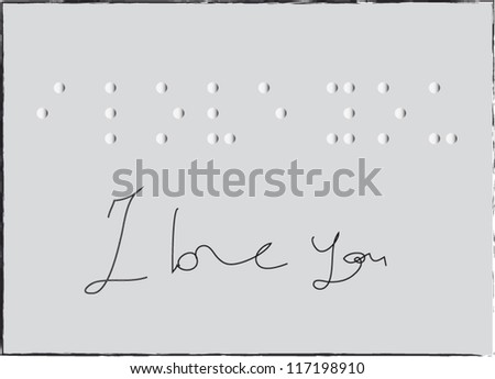 """""""I Love You"""" in Braille - stock vector"""