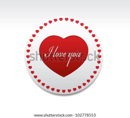 love you symbol vector stock vector 102778553 - shutterstock